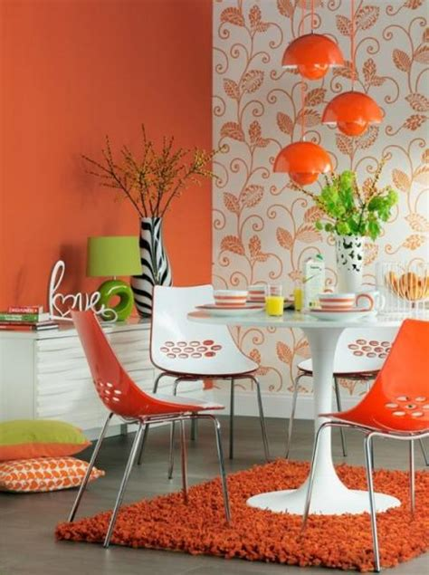 colour in decorations modern dining room decorating ideas orange paint colors