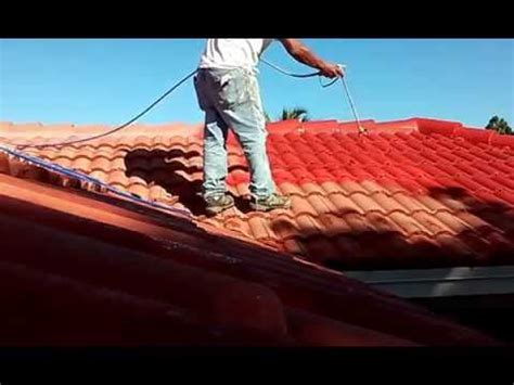 spray painting roof tiles how do you work on steep roofs roofing and painting tips