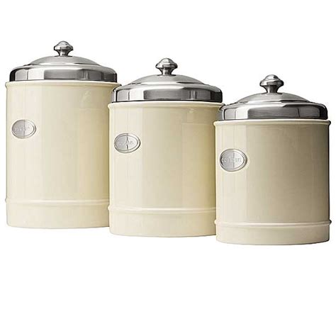 stainless steel kitchen canisters capriware kitchen canisters ceramic stainless steel