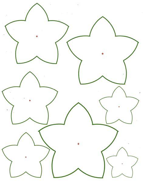 flower paper craft template paper flower templates cyberuse