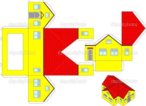 free paper crafts printables 7 best images of paper house printable craft templates
