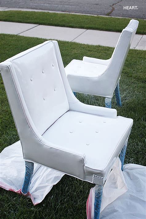 spray painting vinyl furniture diy spray paint vinyl chairs for the home