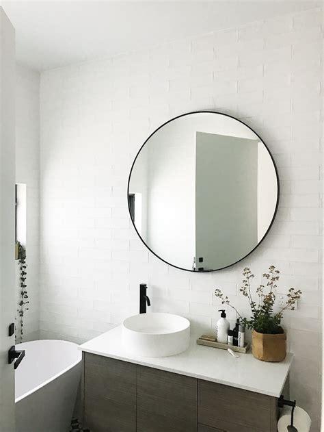 black bathroom mirror s home black and white bathroom reveal style curator