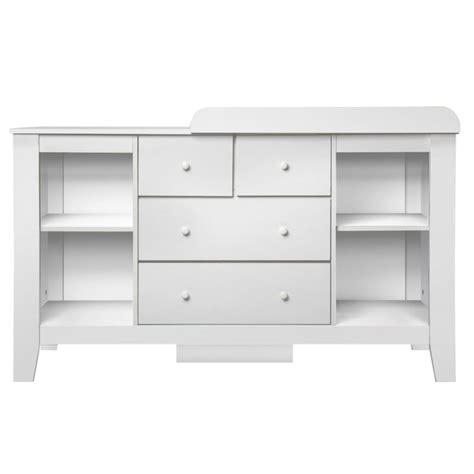white baby change table with drawers baby change table station with 4 drawers in white buy