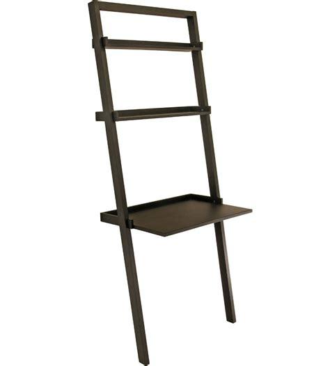 leaning ladder shelves leaning ladder shelf modern espresso leaning ladder