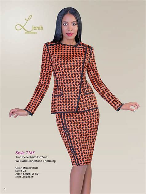 liorah knits liorah knits 7185 womens knit suits
