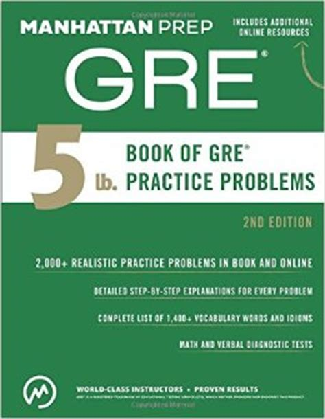 the complete guide to act 2nd edition manhattan gre 5 lb book of gre practice problems 2nd