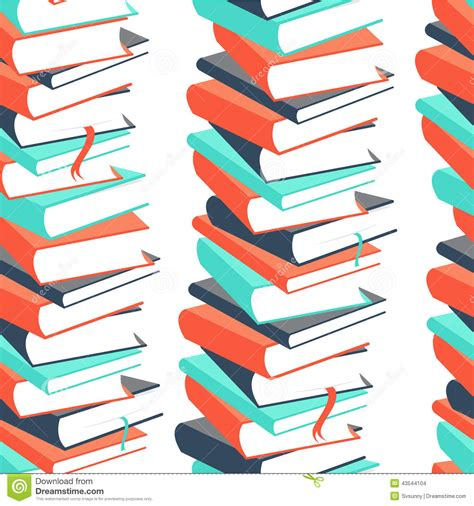 pattern picture books seamless book pattern stock vector image 43544104