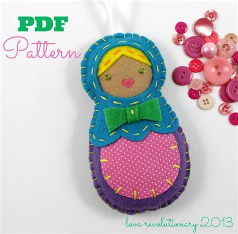 craft for pdf felt nesting doll ornament pdf pattern by lovahandmade
