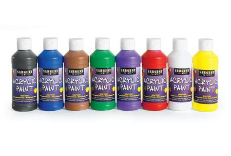 acrylic paint cheap sargent 174 acrylic paints 8 oz set of 8