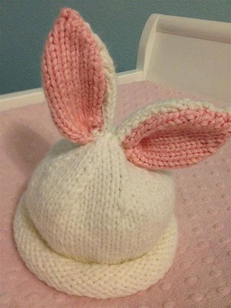 how to knit a bunny hat pin by beth renfrow on knitted things