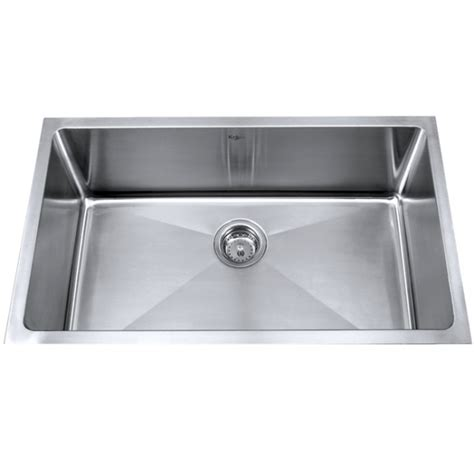 stainless steel undermount single bowl kitchen sink kraus khu100 32 32 inch undermount single bowl 16