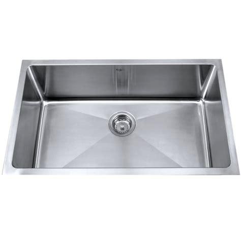 stainless steel undermount kitchen sinks single bowl kraus khu100 32 32 inch undermount single bowl 16