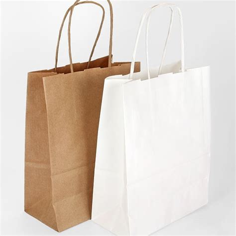 craft bags for 5 twist handle ribbed kraft paper gift bags 2 colours
