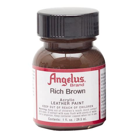 angelus paint brown buy angelus leather paint 1 oz rich brown