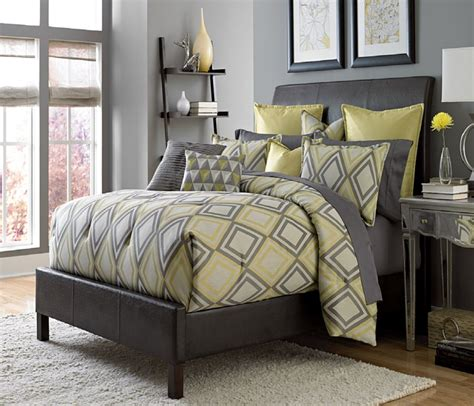 gray and yellow comforter sets yellow and gray bedding that will make your bedroom pop