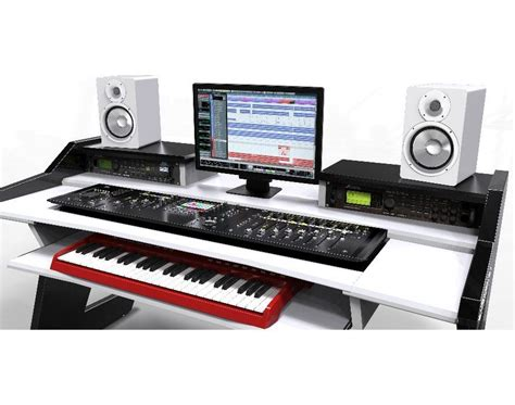 studio desk beat desk all black studio desk workstation furniture