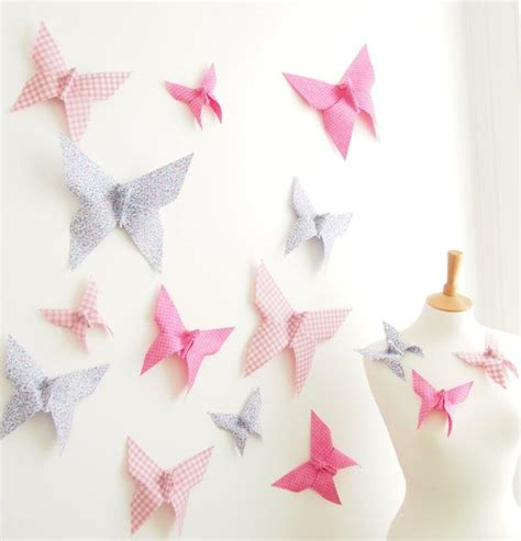 origami decor origami butterfly wall decor for nursery bedroom 15