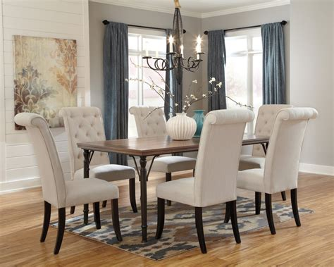 dining room table 6 chairs tripton rectangular dining room table 6 uph side chairs