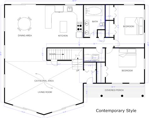 floor plan blueprint blueprint software try smartdraw free