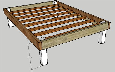 built in bed frame simple bed frame by luckysawdust lumberjocks