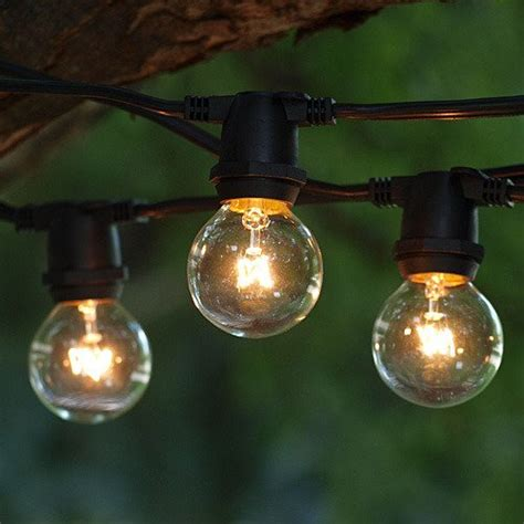 exterior string lights commercial outdoor commercial string globe lights 24ft 24 sockets