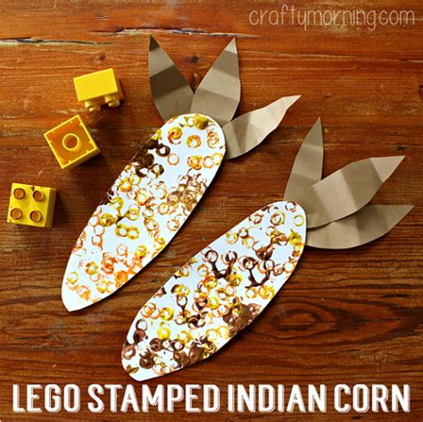 indian and craft for lego sted indian corn craft for crafty morning