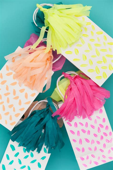 diy gift bags diy tassel gift bag tell and