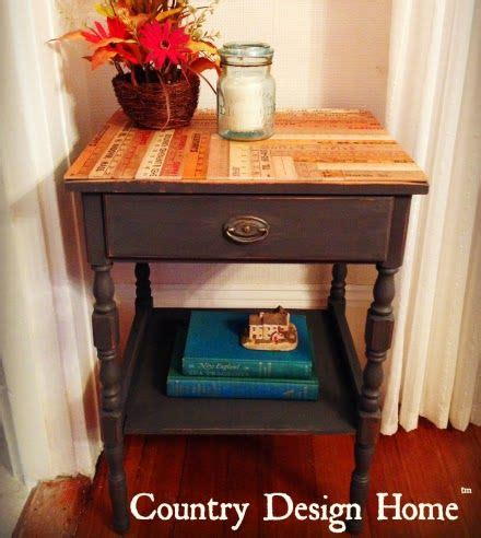diy americana decor chalk paint diy reclaimed ruler side table with americana decor chalky