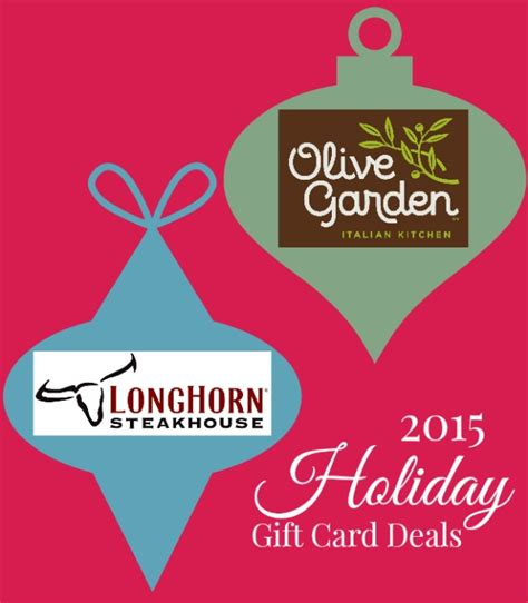 2015 gift card deals at olive garden longhorn steakhouse raising whasians