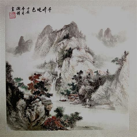 chino painting in china rice paper watercolor painting and tela on