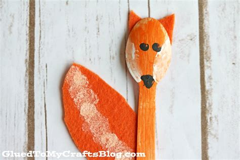 wooden spoon crafts for wooden spoon fox kid craft glued to my crafts
