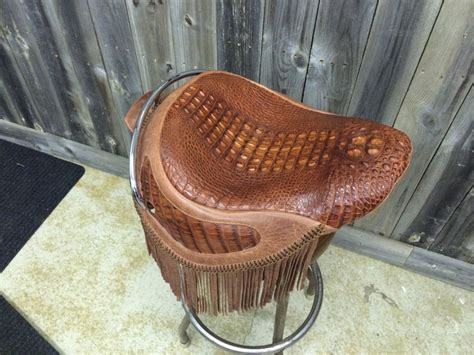 Exotic Home Interiors american hornback alligator with distressed leather