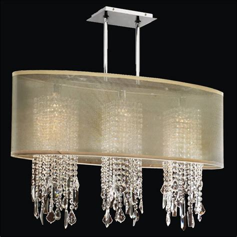 chandelier with shade and crystals oval shade chandelier with soho 626m glow