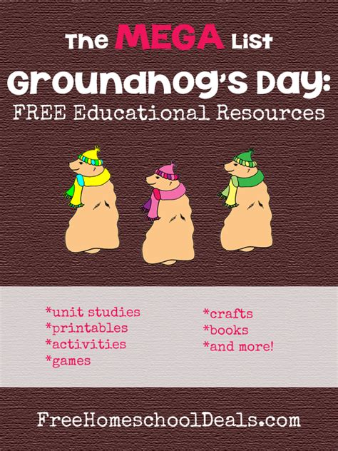 groundhog day last day groundhog s day mega list of free educational resources