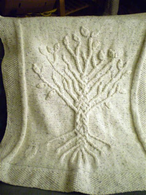 tree of knitting pattern aran tree of baby afghan knitting