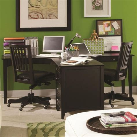 two person desk home office furniture 1000 ideas about two person desk on 2 person