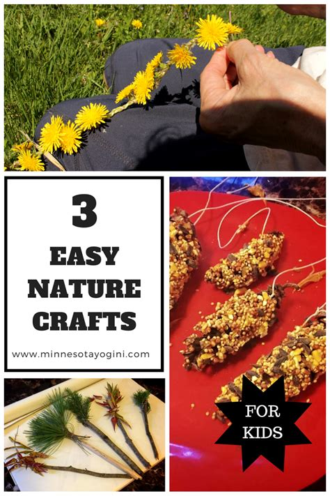 easy nature crafts for minnesota yogini 3 easy nature crafts for