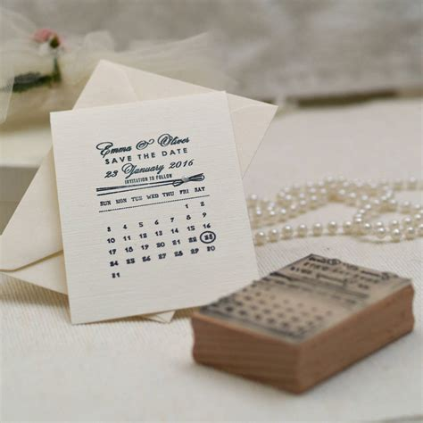 rubber date st personalised calendar save the date st by pretty rubber