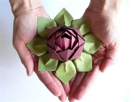 how to fold origami lotus paper craft flowers how to fold an origami lotus blossom