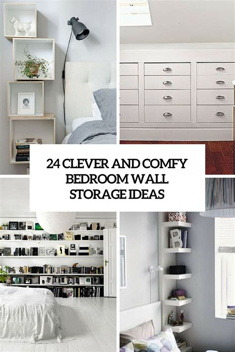bedroom storage idea 24 clever and comfy bedroom wall storage ideas shelterness