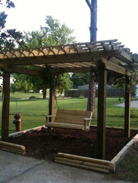 pergola swings swing pergola gardening ideas