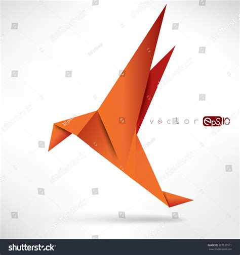 origami crane history origami paper birdvector illustrationpolygonal shape paper