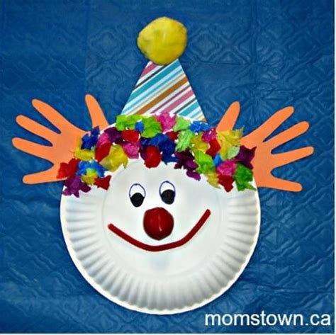 paper plate clown craft pin by kristi zonnefeld on circus theme