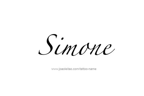simone name tattoo designs