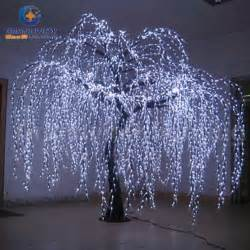light the tree china lighted willow tree real look trunk led indoor out