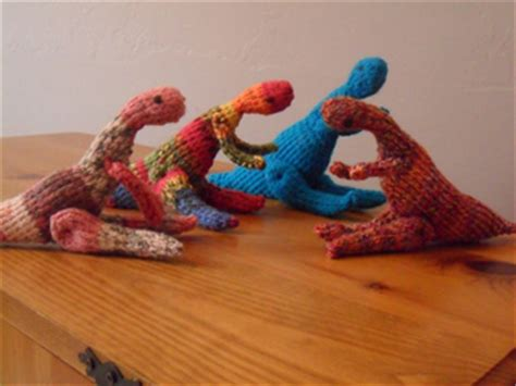 knitted dinosaurs tina barrett ravelry bag of troodons pattern by tina barrett