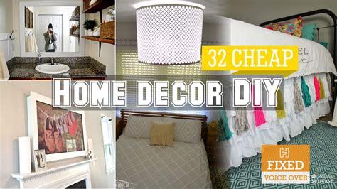 home decor cheap ideas 32 cheap home decor diy ideas new v o