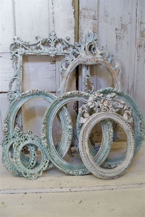 shabby chic picture frames for sale shabby chic soft blue frame grouping set distressed with