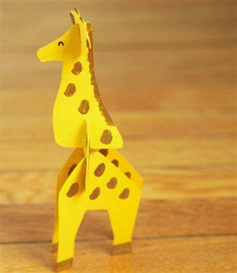 giraffe craft for recycled cardboard giraffe allfreekidscrafts